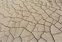 סידוק באדמה עם אחוזי חרסית גבוהים